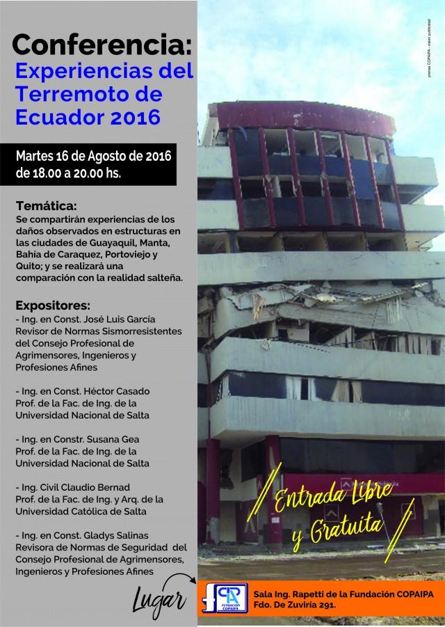 afiche terremoto ecuador
