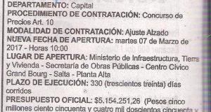 Obra: Construcción de Confitería y Drugstore cumbre Cerro San Bernardo Complejo Teleférico Salta- 2017