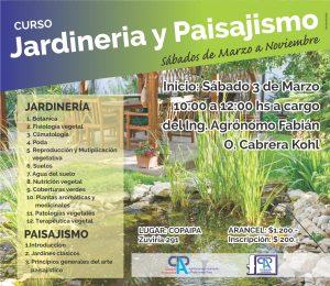 la fundacin copaipa informa que el sbado 3 de marzo inicia el curso anual de jardinera y paisajismo a realizarse todos los sbados de marzo a noviembre - Jardineria Y Paisajismo