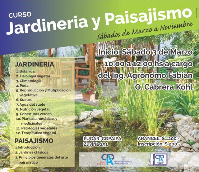 Curso anual de jardiner a y paisajismo 2018 copaipa for Aprender jardineria