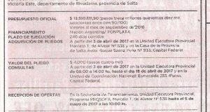 Obra: Construcción de agua y salud en el Chaco Salteño ubicado en Santa Victoria Este Dpto. de Rivadavia Salta