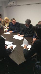 En el Centro Cívico Grand Bourg se rubricó la firma del Convenio del Banco de Proyectos