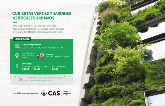Capacitaci n cas cubiertas verdes y jardines verticales for Jardines verticales lima